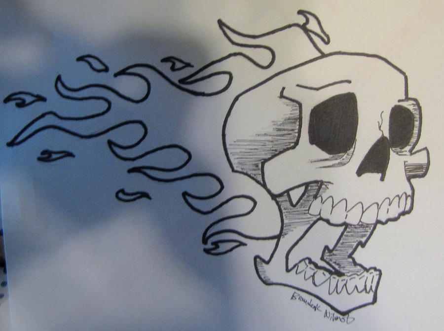 Skull with fire by bkw53 on DeviantArt