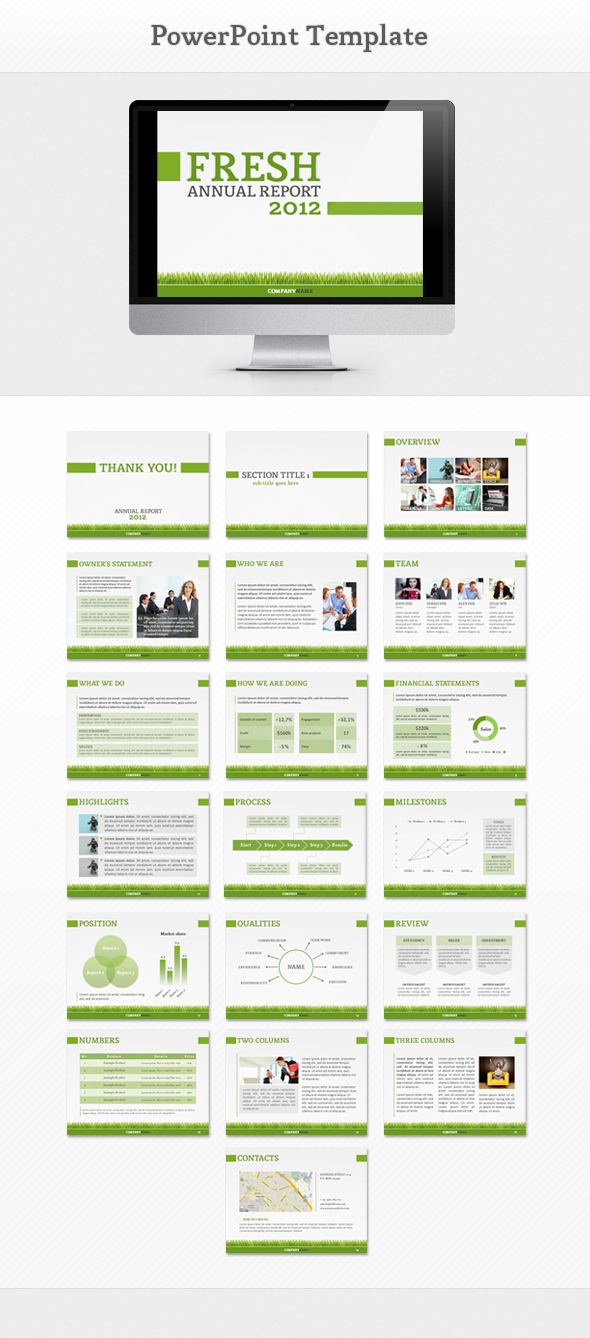 Fresh report powerpoint template by oskars3d on deviantart fresh report powerpoint template by oskars3d toneelgroepblik Image collections