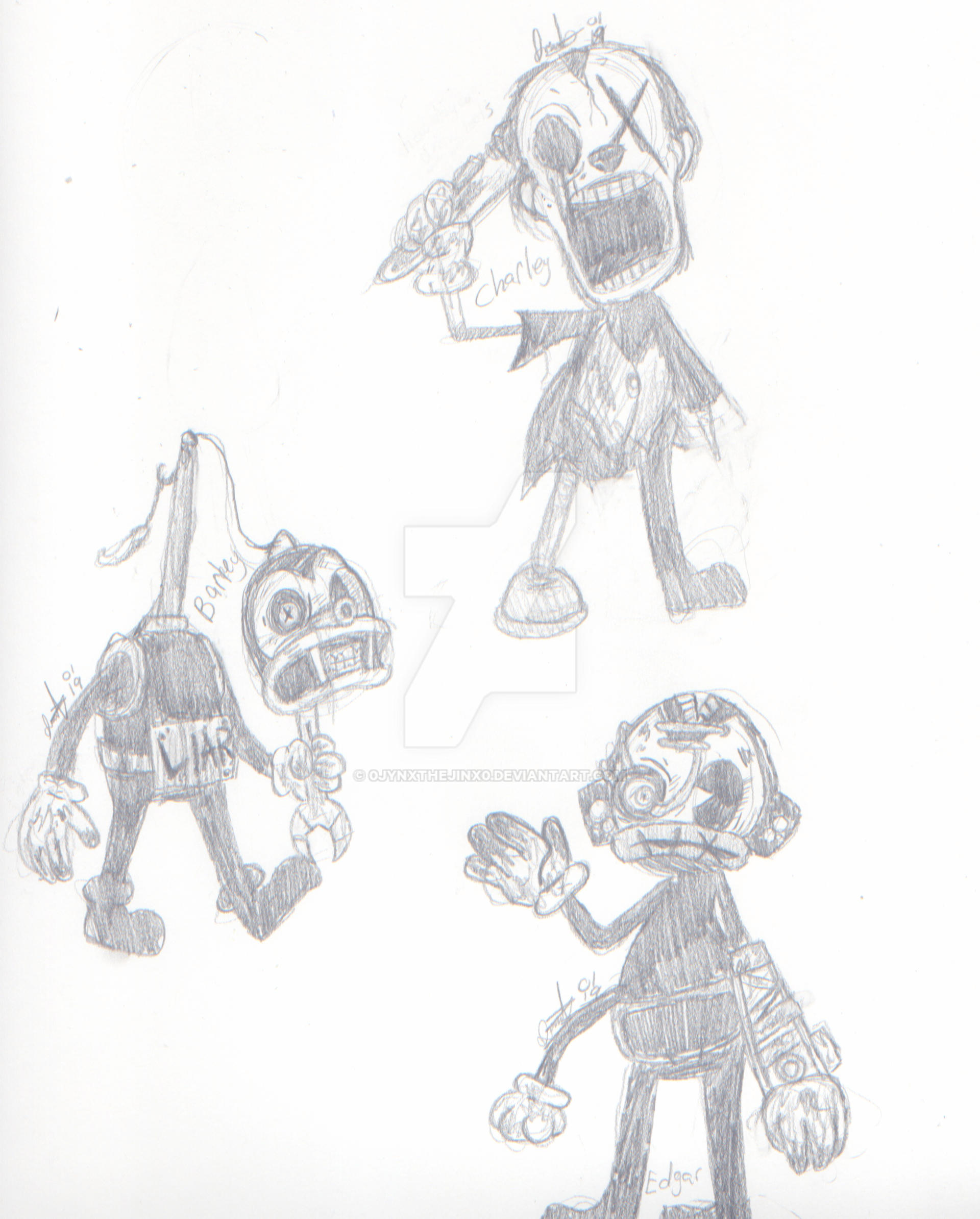The Butcher Gang (Bendy and the Ink Machine) by 0Jynxthejinx0