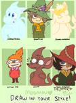 Moomin Draw In Your Style Meme(?) by 0Jynxthejinx0