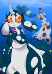 Harley and Sea Cat by 0Jynxthejinx0