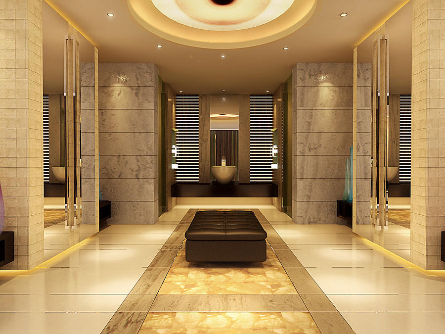 luxury bathroom by 3Dskaper on DeviantArt