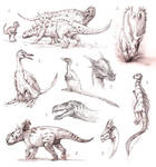 dino sketches II