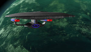 U S S Enterprise by Hatvok