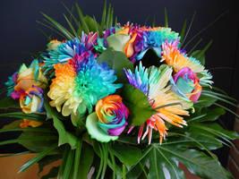 Happy Colors Rainbow Bouquet by RAINBOWedROSES
