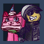 Bad Cop and Unikitty Doodle