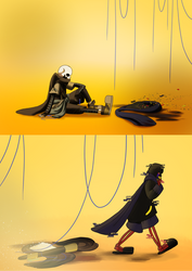 It's finally over / He'll be back by Milqueandtoast