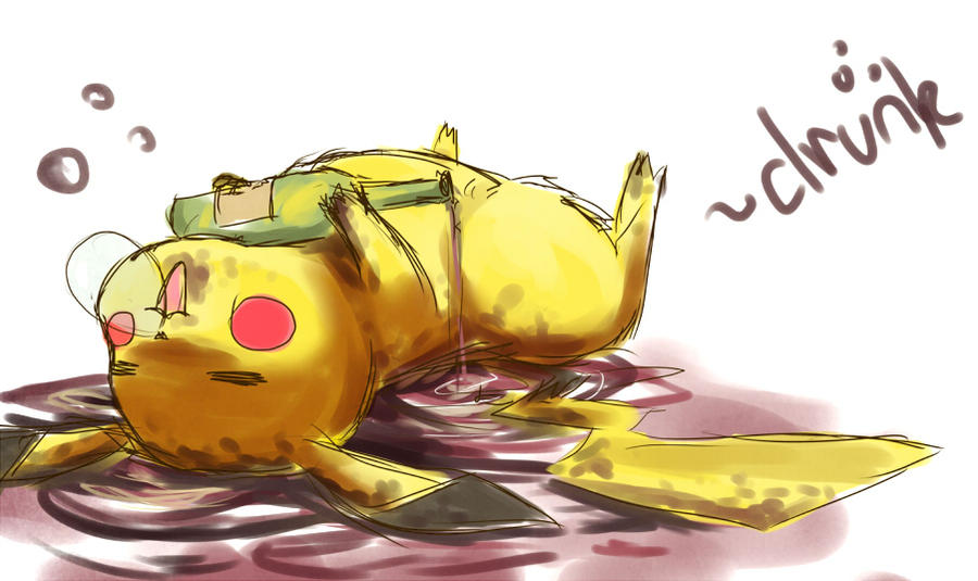 that pikachu, drunk by starblacks