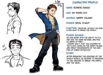 Character Sheet - Ranzo by KotoriBR