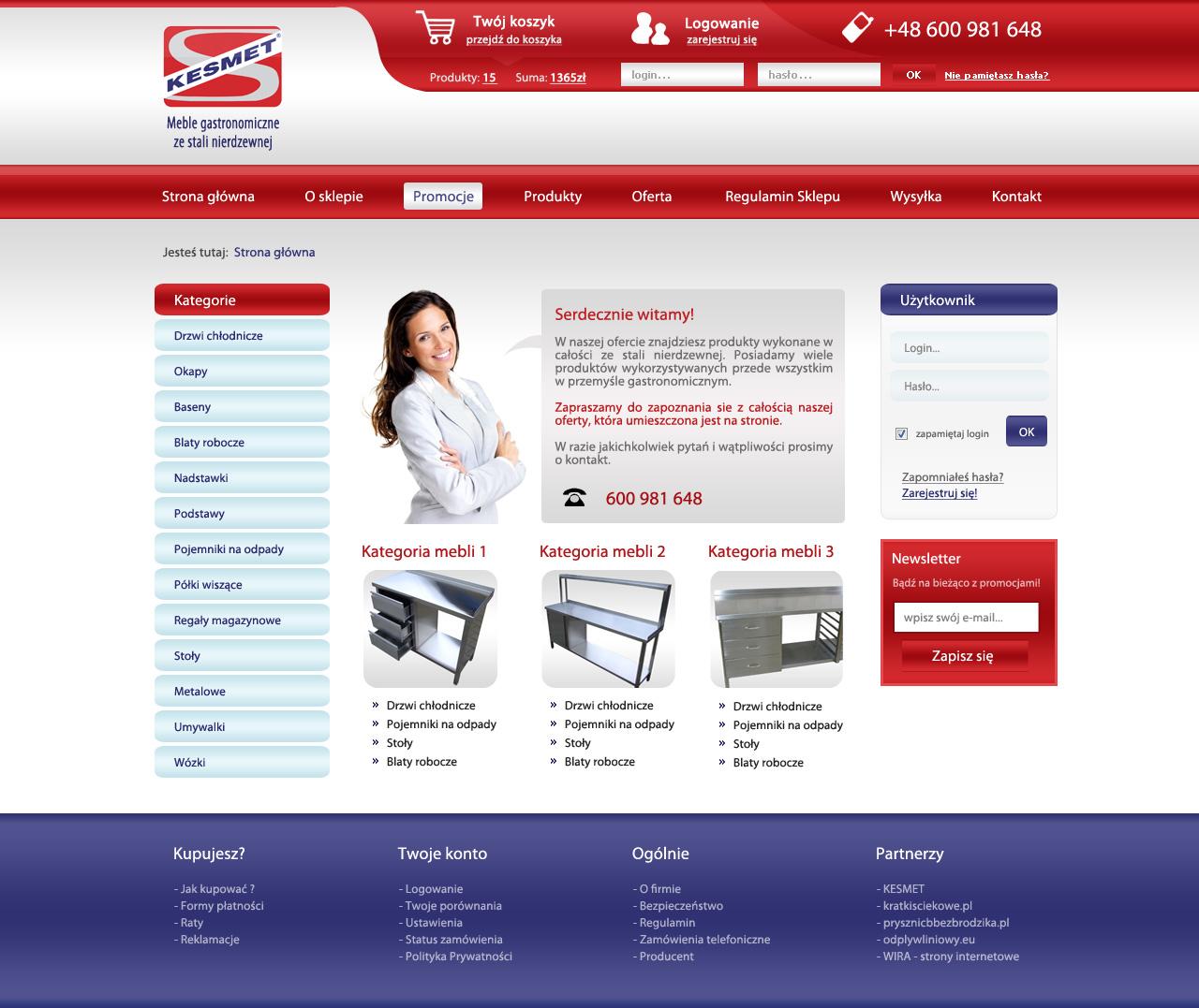 ecommerce website layout