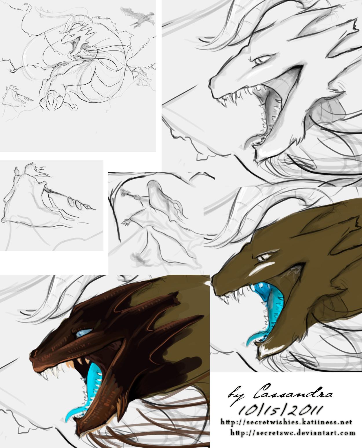 Dragon Sketch Peview by secretSWC