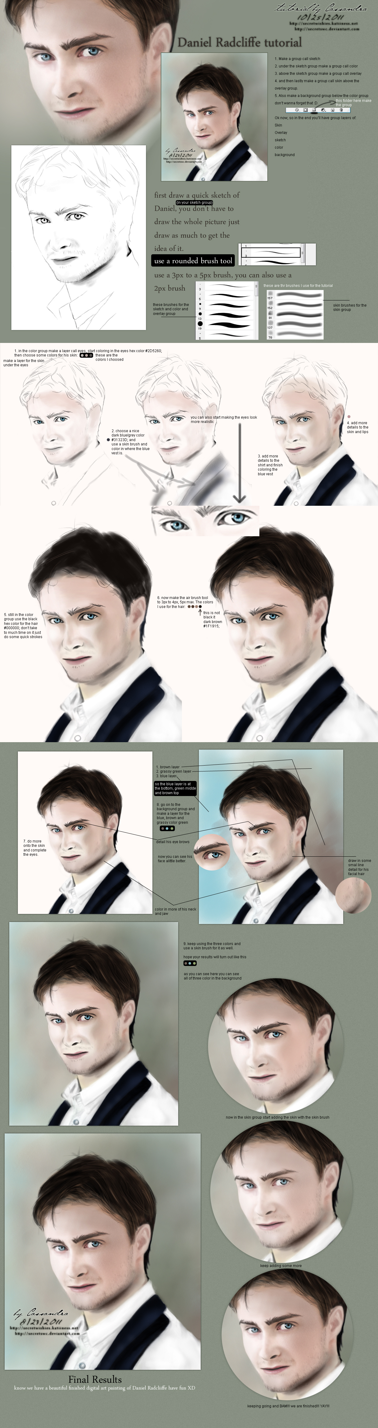 Daniel Radcliffe Tutorial by secretSWC