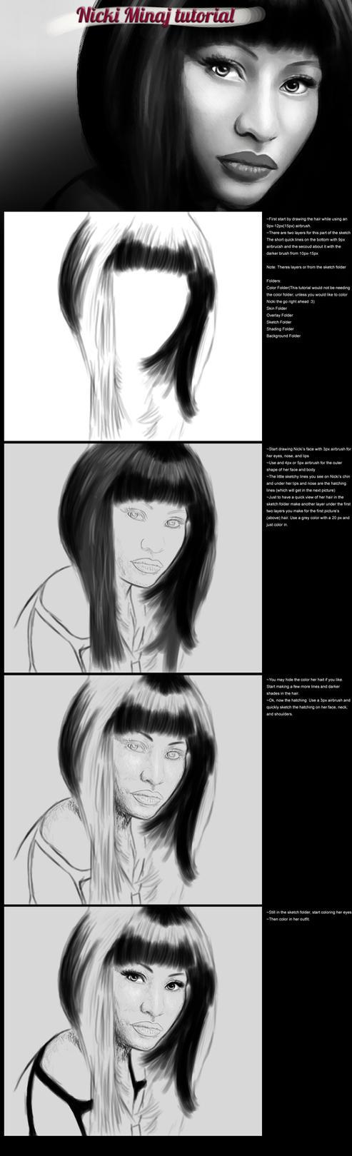 Nicki Minaj tutorial part 1 by secretSWC