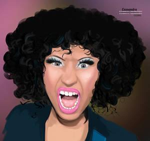 Nicki Minaj scream paint