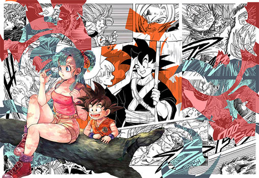 Bulma and Goku - Dragonball Z - Signature
