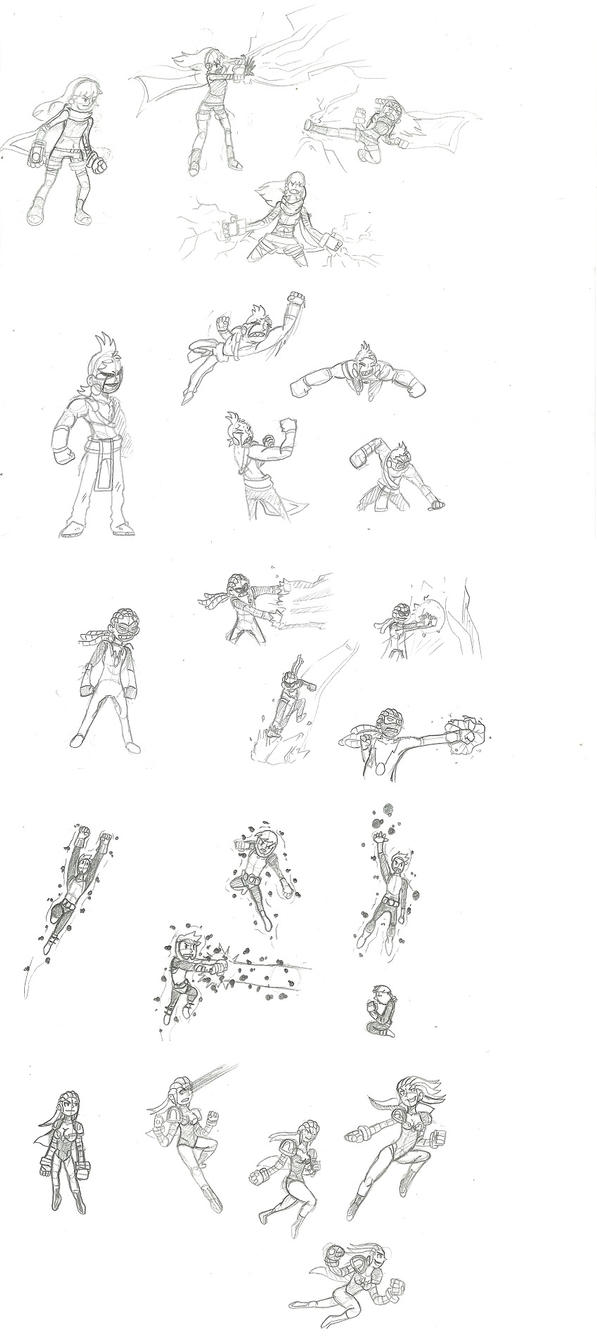 Valor City Heroes concepts by OUC