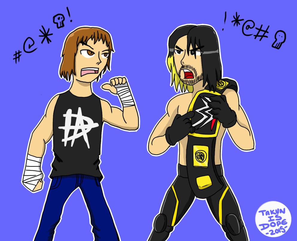 WWE: Dean Ambrose vs Seth Rollins by OUC