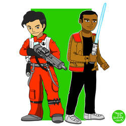 Poe Dameron and Finn by OUC