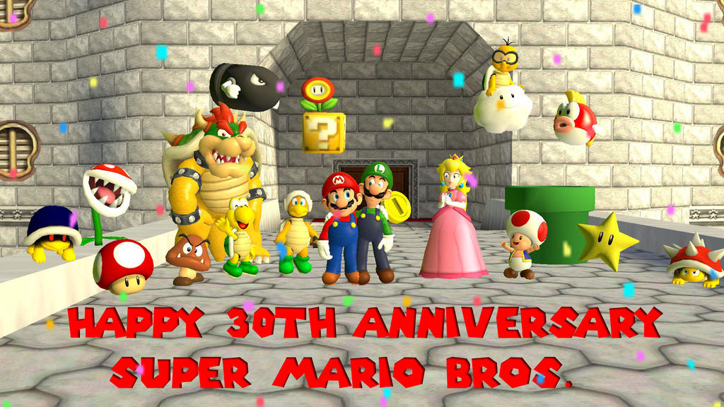 Happy th anniversary super mario bros by dcdawg on