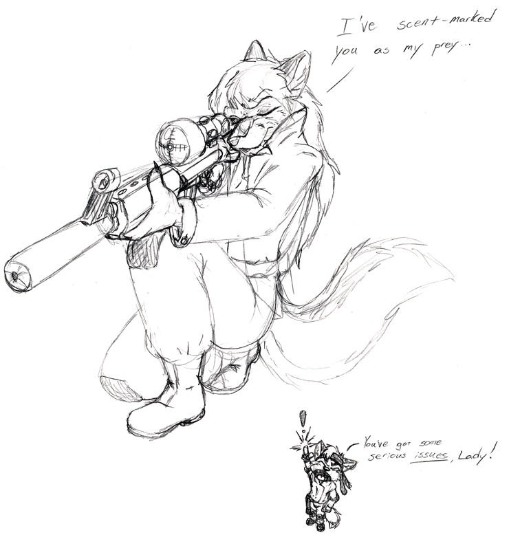 Fuzzy MGS - Sniper Wolf by kliefox