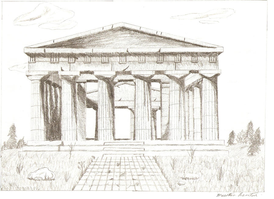 Greek Architecture Drawing greek temple | fonts-logos-icons | pinterest | architecture