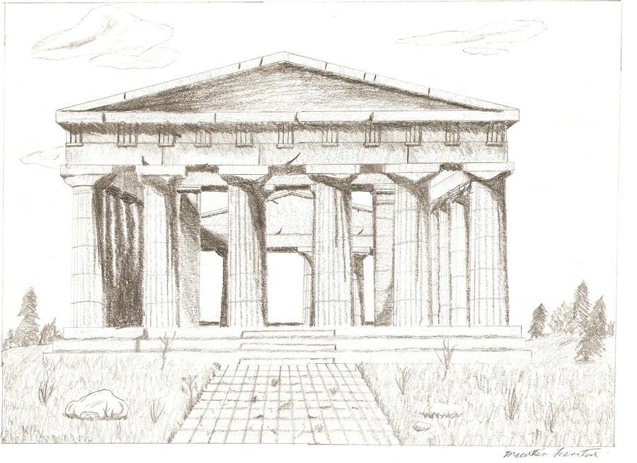 Greek Temple Drawing by mferraton on DeviantArt