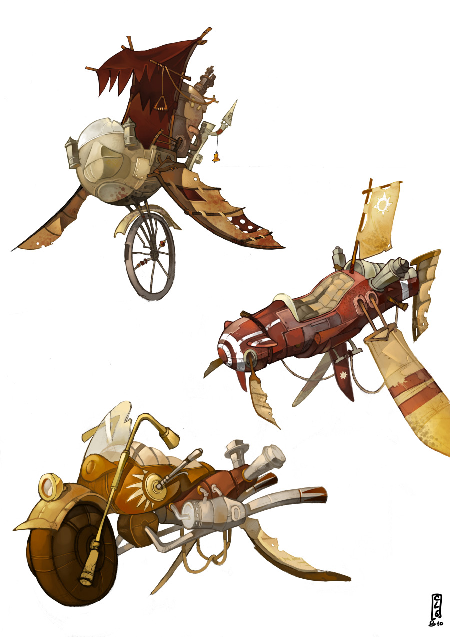 Pirate's cove Steampunk_vehicles_color_by_catell_ruz