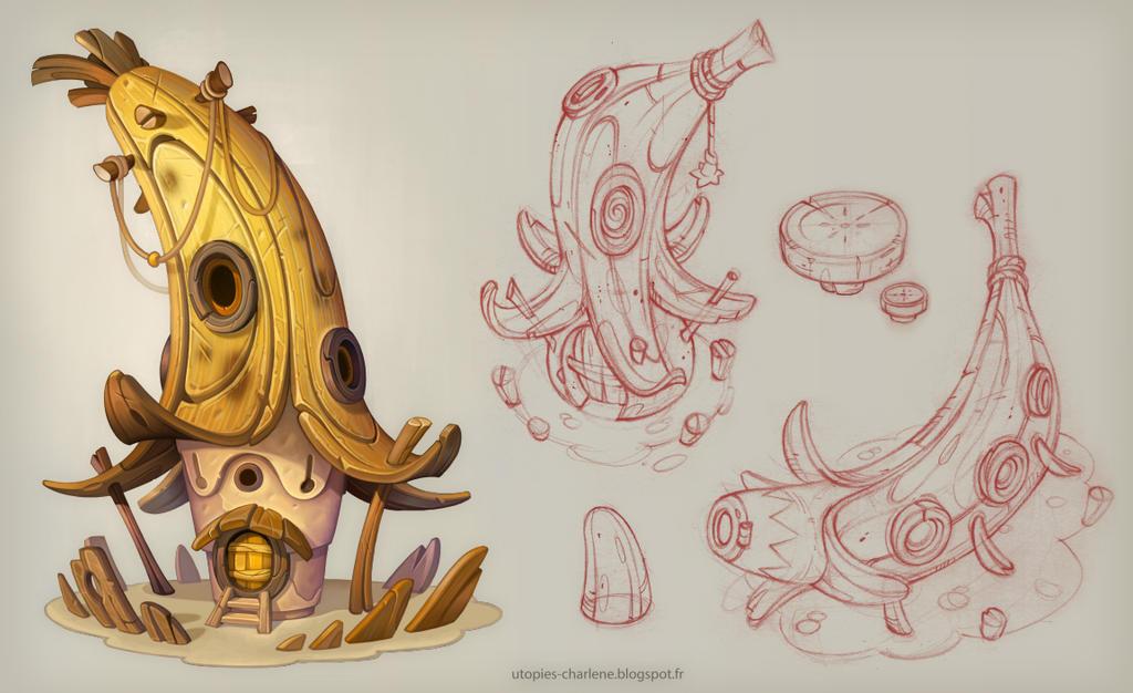 Banana House Catell-ruz by Catell-Ruz