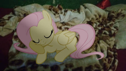 Fluttershy on My Bed by BronnyThePooper