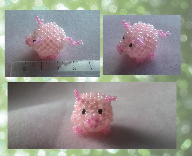 Beaded pig by TheShadowEmpress