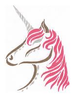 Unicorn Tattoo Design by BloodMoonEquinox
