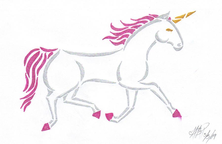 Running Tattoo Designs Running Unicorn Tattoo Design