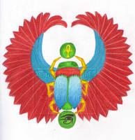 Winged Scarab Beetle by BloodMoonEquinox