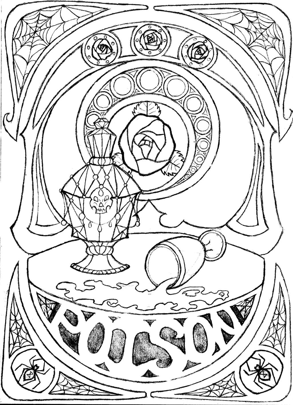 poison coloring pages - photo#17