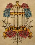 Escapist Tattoo Flash