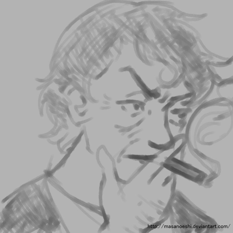 A Man with Cigar by MasanoEshi