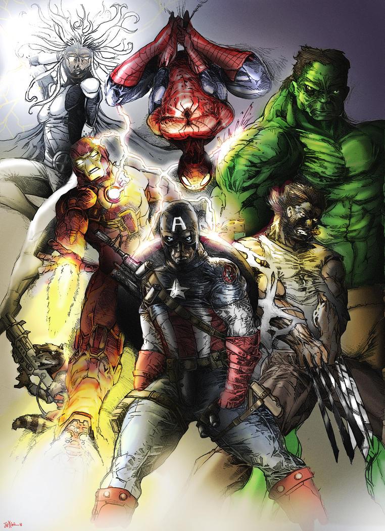 Marvel1color by Destructiconz
