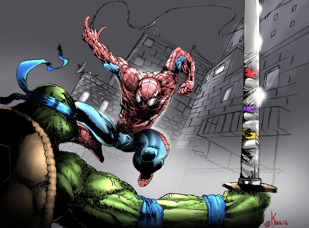 Spiderman VS Turtles! by Destructiconz