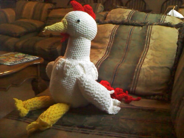 Crocheted Giant Rooster by ShadowOrder7