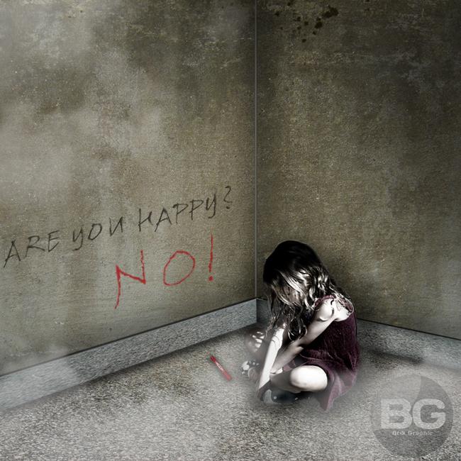 Little sad girl by BrikGraphic on DeviantArt