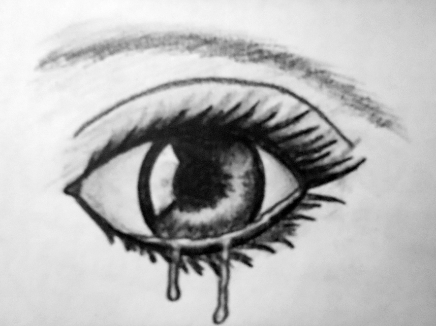 94 How To Draw Crying Eye For Beginners Youtube Pencil Sketch Of