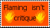 'Flaming' Stamp by hypersugarmaniac