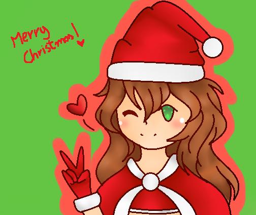 Merry Christmas Anime Girl By Kawaiikitty36046 On Deviantart