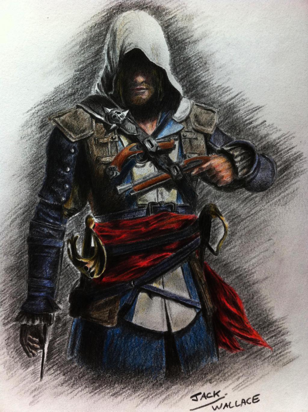 Jakaś cycata panna pragnąca pomagać pokemonom(Lunaa) - Page 5 Assassin_s_creed_4__black_flag___edward_kenway_by_hybrid_theory101-d5zrhcl