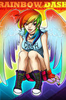 Rainbow Dash by starrywhitewall