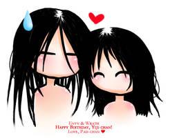 Envy x Wrath - Happy Bday Yiji by starrywhitewall