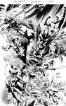 JLA#14 COVER ink