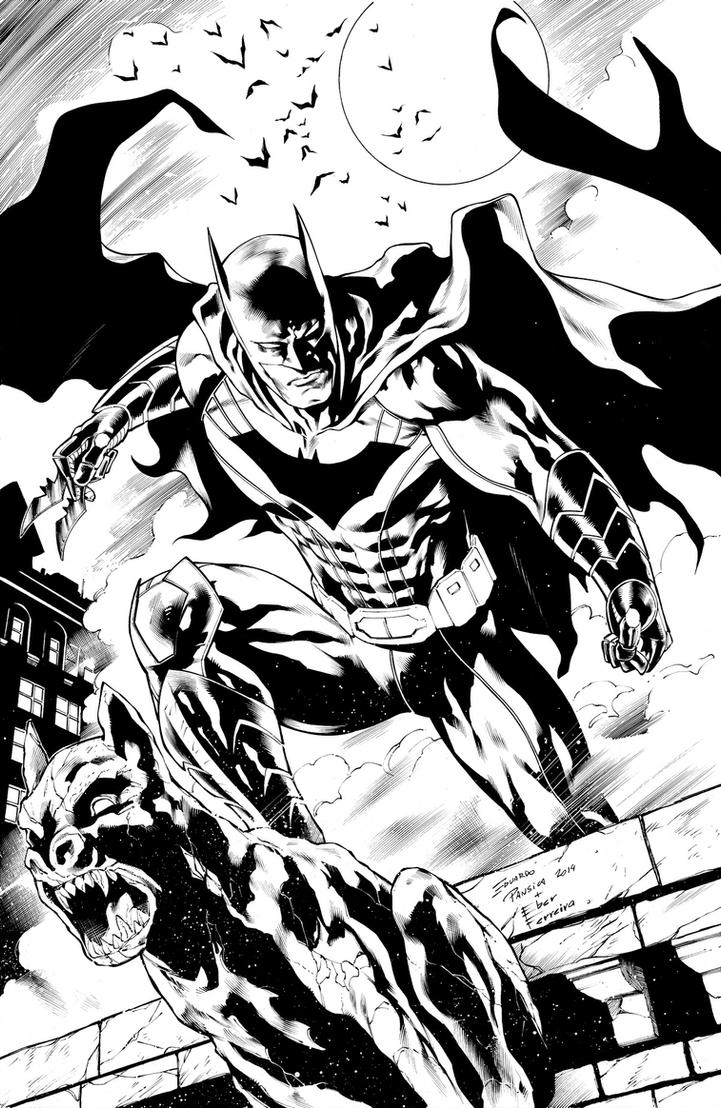 Sample  Batman Pansica ink small by eberferreira