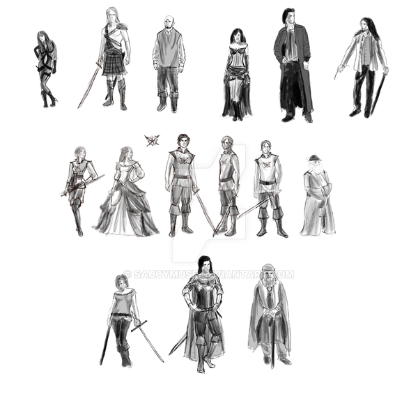 Character Design Process : Character design sketches by saucymuse on deviantart