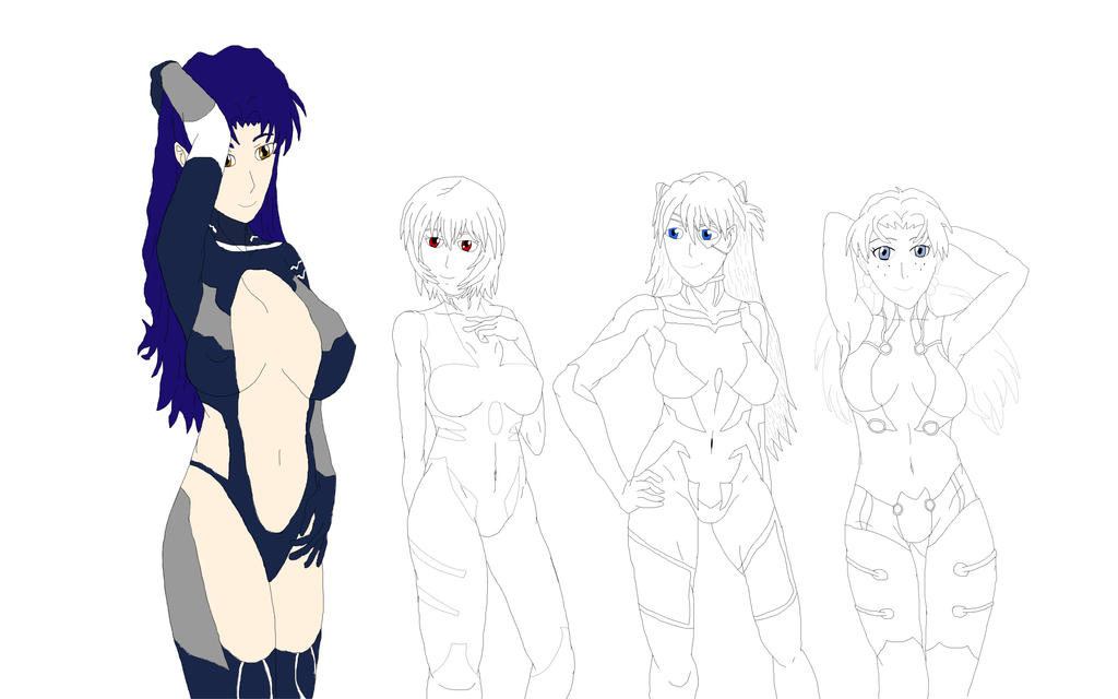Eva Ladies WIP by Thaeonblade